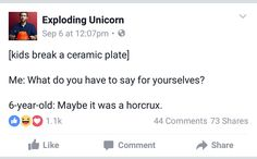 Except you can't destroy a horcrux by just knocking it over
