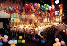 A simple and inexpensive way to liven up any birthday party...Balloons