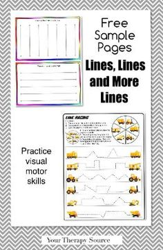 PreWriting and Line Visual Motor Pencil Practice