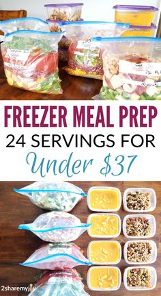 Easy and healthy vegan freezer meal prep 6 freezer meals 24 servings under 37 Budget friendly freezer meal plan that is also weight loss friendly Vegan Freezer Meals, Budget Freezer Meals, Frugal Meals, Budget Recipes, Premade Freezer Meals, Freezer Meal Party, Freezer Recipes, Freezer Cooking, Easy Recipes