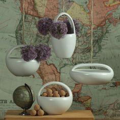 HomArt Luna Oblong Hanging Ceramic Bowl | Domino