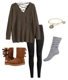 *21 by kkayyllee on Polyvore featuring polyvore, fashion, style, UGG, Alex and Ani and clothing