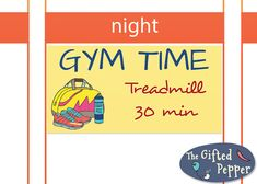 Plan or log your gym activity of the day with this sticker! This listing offers a pdf file with 55 Gym time stickers as shown in the image. The
