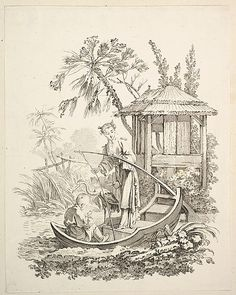 Cormorant Fishing - click through for more chinoiserie