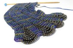 Interlacementsyarns.com beaded scarf kit, African Violets colourway