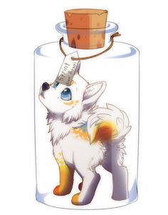 chibi_com_sprint by azzai on DeviantArt Cartoon Wolf, Cute Cartoon Animals, Anime Animals, Cute Animals, Cute Animal Drawings, Animal Sketches, Cute Drawings, Mythical Creatures Art, Warrior Cats Art