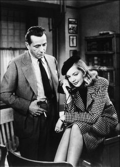 "When Bogart and Bacall married his first present to her was a cigarette box. It was inscribed, ""For Mrs. Me, who need never whistle for Bogie."""