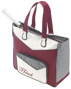 Head Women's Tennis Racquet Club Bag - Maroon/Grey/White