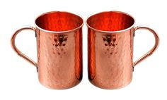 Drink Ware Hammered Copper Moscow Mule Mug 16 Oz Brown Set Of 2 #Buddha4all