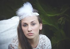 Bridal headpiece 1920s Deco Headband Style di JonidaSmakaj su Etsy, €100.00