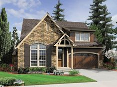 Family Plan with Level Games Room. House Plan The Caldwell is a 2213 SqFt and Cottage style home floor plan featuring amenities like Covered Patio, and Games Room by Alan Mascord Design Associates Inc. Narrow Lot House Plans, Best House Plans, House Floor Plans, Cottage House Plans, Craftsman House Plans, Cottage Homes, Cottage Ideas, Craftsman Style, Cottage Design