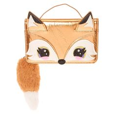 Francesca the Fox Golden Metallic Crossbody Wallet