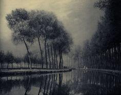 léonard misonne - untitled, landscape, c. 1895
