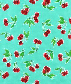 Aqua Stella Oilcloth Fabric | onlinefabricstore.net