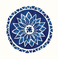 """portermoto: """" Healing Chime Mandala Logo was originally designed by Ludmila Vilarinhos and is held under a Creative Commons BY License to be freely distributed """" Illustrations, Illustration Art, Mandala Azul, Inspiration Artistique, Art Inspo, Watercolor Art, Watercolor Mandala, Mandala Painting, Print Patterns"""