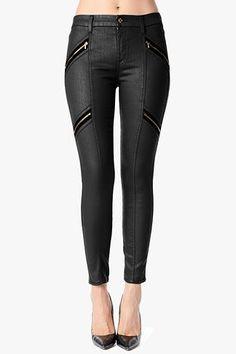 Velvet Zip Moto in Black #7FAM