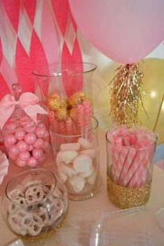 Pink Fab Birthday Party candy!  See more party planning ideas at CatchMyParty.com!