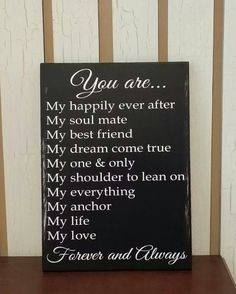 Love Quotes For Him : QUOTATION - Image : Quotes Of the day - Description Anniversary Wedding Birthday Valentines Gift by KyMadeCrafts Sharing is Caring - Don't forget to share this quote Love Quotes For Him, Me Quotes, Qoutes, Sign Quotes, Birthday Gift For Him, Diy Birthday, Birthday Ideas, Birthday Quotes, Def Not