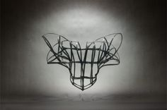 Heather Huey's cages evoke themes of freedom and confinement while elaborating on the lines of the human body.
