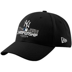 New Era New York Yankees Black 2009 World Series Champions 27-Time Champions Wool Blend Structured Adjustable Hat