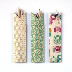 Wrap your pencils in style with these Diy Origami Pencil Holders.