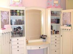 Makeup Collection and Storage....heaven her storage vanity is
