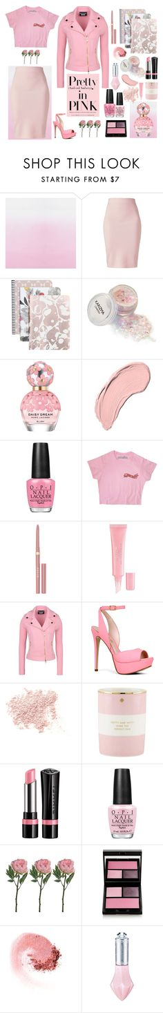 """""""PiNK."""" by denyeverything ❤ liked on Polyvore featuring Designers Guild, Winser London, Caroline Gardner, Marc Jacobs, NYX, OPI, Stila, Christian Dior, Boutique Moschino and ALDO"""