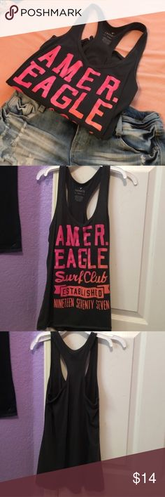 American Eagle Tank Top Cute AE Tank that's perfect for summer. Used but in good condition. Shorts in cover photo not included. PLEASE READ THE ENTIRE DESCRIPTION BEFORE PURCHASING! 🚫 NO TRADES. NO HOLDS. NO MERC@RI 🚫📩 I only respond to offers made through the offer button 📩  🙋🏼Questions? Just ask! Serious inquiries only please. EVERYTHING MUST GO!! 💁🏼 American Eagle Outfitters Tops Tank Tops