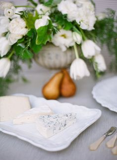 Champagne and Cheese Party - I like how the cheese is displayed nicely, sort of like a pretty picnic style
