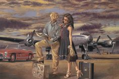 ADVENTURE IS OUT THERE by PEREGRINE HEATHCOTE oil on canvas