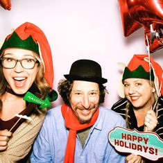 Surround yourselves with #elves and people who love you #happyholidays from #14kphotobooth