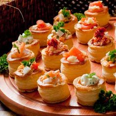 vol au vent. Serving these..goes great with Paris theme