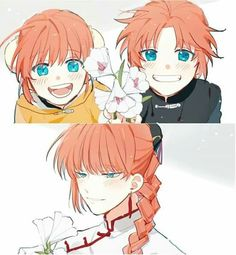 Damn it! This fanart breaks my heart Anime Chibi, Anime Manga, Anime Art, Gintama, Comedy Anime, Anime Family, Reborn Katekyo Hitman, Akatsuki, Anime Love