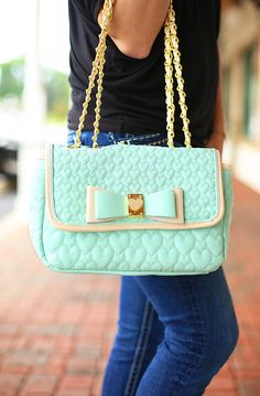 Mint To Be Loved Handbag by Betsey Johnson