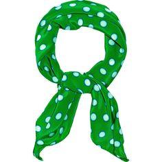 Miu Miu Polka-dot silk crepe de Chine scarf ($195) ❤ liked on Polyvore featuring accessories, scarves, green, miu miu, sciarpe, women, green shawl, square scarves, square silk scarves and pure silk scarves