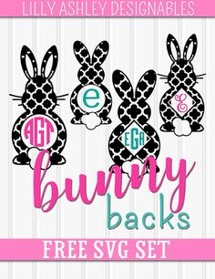Make it Create by LillyAshley...Freebie Downloads: Free Easter SVG Set for Monograms