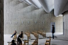 Church of Seed / O Studio Architects! China.  Although not as refined as Utzons Bagsværd Church one has to love The in situ cast concrete walls with a clear bamboo