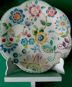 Ceramic Spoons, Ceramic Plates, Ceramic Pottery, Pottery Painting, Ceramic Painting, Ceramic Art, Painted Mugs, Hand Painted Ceramics, Decoupage Box