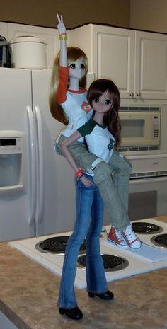 Smart Doll Mirai Suenaga and Ebony by rc2agog