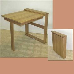 Many kinds of  Wall Mounted Table are available in the furniture store. But if your budged is limited as your room, you just need some basic skill of carpentry to build your own table quickly. This project can be completed about one day, including table fabrication and installation. Following some instruction below to create a new Wall Mounted Table. by sammsfamily