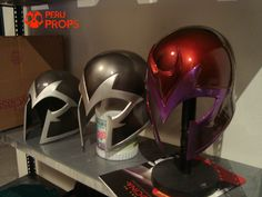 Pepakura Magneto Helmet by Peru Props Resources, Tools, and Materials for your Pepakura at www.PepakuraPros.com.