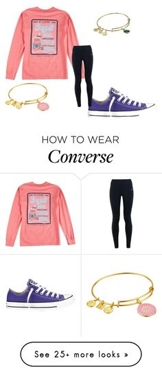 """""""So true the shirt"""" by sarahs2734 on Polyvore featuring Converse, NIKE and Alex and Ani"""