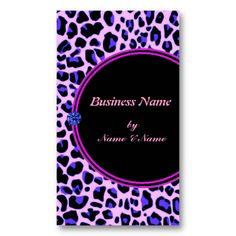 Blue Leopard Print Business Card by elenaind