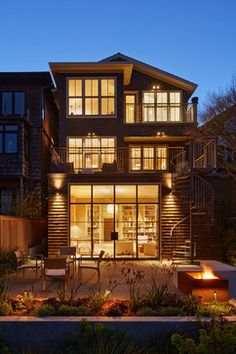 Cole Valley, San Francisco  Architect: Gast Architects / Yu Strandberg Engineering / Photography: Bruce Damonte