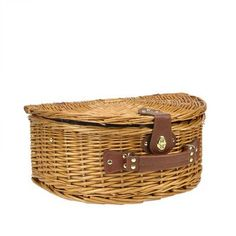 NorthlightSeasonal 2 Person Hand Woven Honey Willow Insulated Picnic Basket