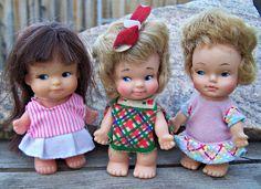Vintage Dolls , Three Uneeda Pee Wee Dolls. $16.50, via Etsy.