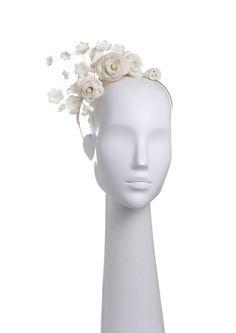 Diadema rosas Roses headband Hecha con porcelana rusa Russian porcelain hand made