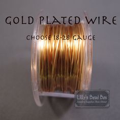 Gold Plated Wire
