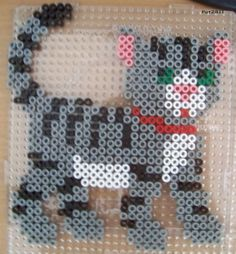 Cat hama perler beads by Les loisirs de Pat