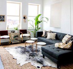 Bohemian/modern living room